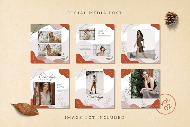 Flyer square social media feed poster instagram template