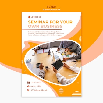Flyer styles for creating a business