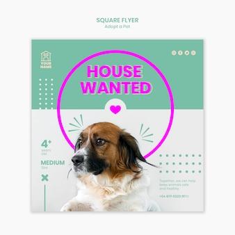 Flyer template adopt pet concept