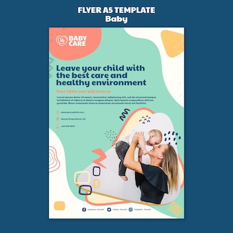 Flyer template for baby care professionals