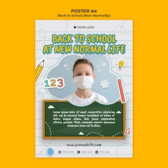 Flyer template for back to school season