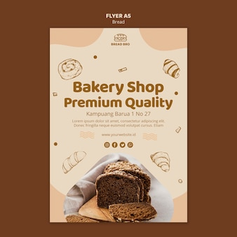Flyer template for bakery shop