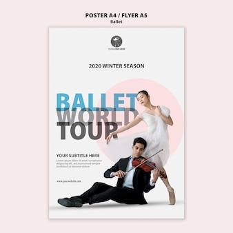 Flyer template for ballet performance