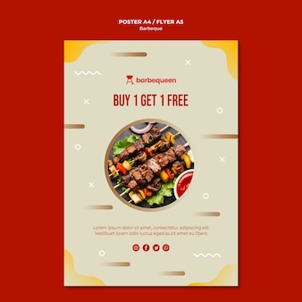 Flyer template for barbecue restaurant
