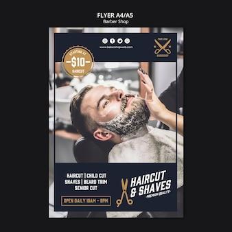 Negozio di barbiere modello di volantino