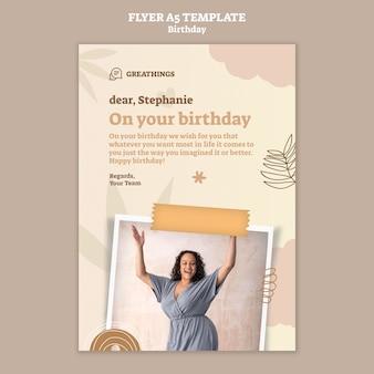 Flyer template for birthday celebration