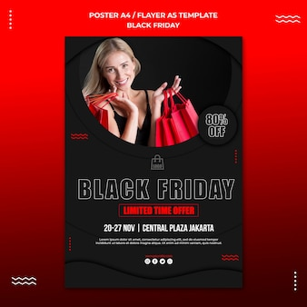 Flyer template for black friday sale