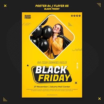 Modello di volantino per la vendita del venerdì nero