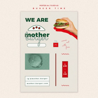 Flyer template for burger restaurant