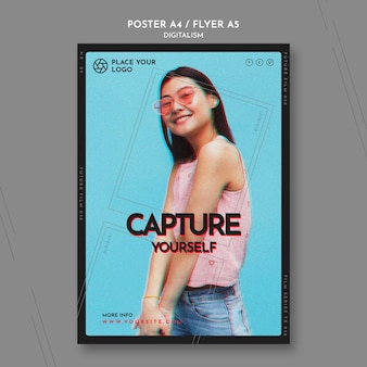 Flyer template for capture yourself theme