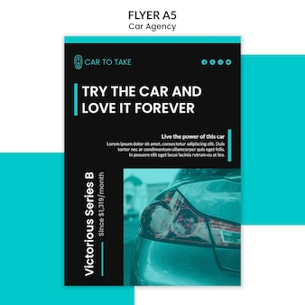 Flyer template car agency