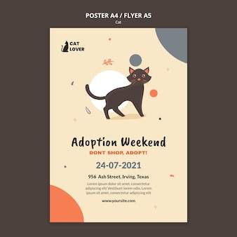 Flyer template for cat adoption