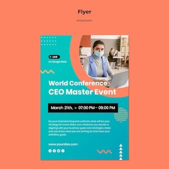 Modello di volantino per conferenza evento ceo master