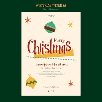 Flyer template for christmas