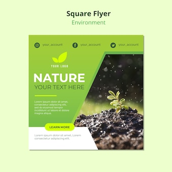 Flyer template concept of nature enviroment