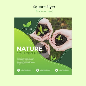 Flyer template concept of nature