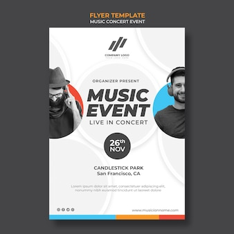 Flyer template for concert
