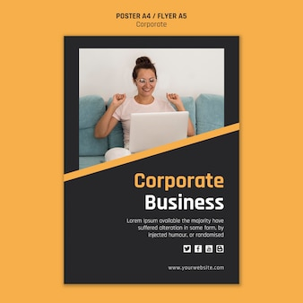 Flyer template for corporate business