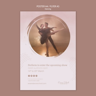 Flyer template for dancing performers