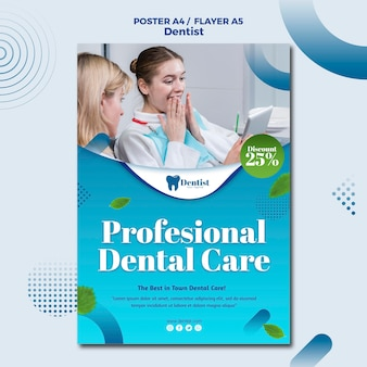 Flyer template for dental care