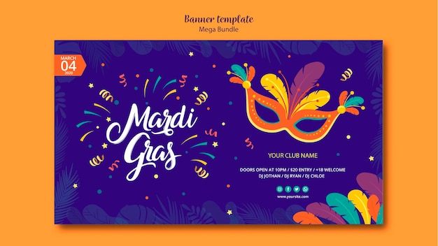 Flyer template design for carnival Free Psd