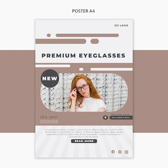 Flyer template for eye glasses company