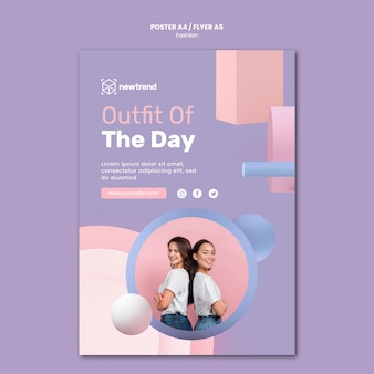 Flyer template for fashion retail store