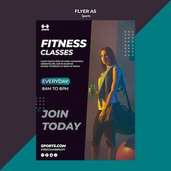 Flyer template for fitness class