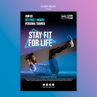 Flyer template fitness trainer