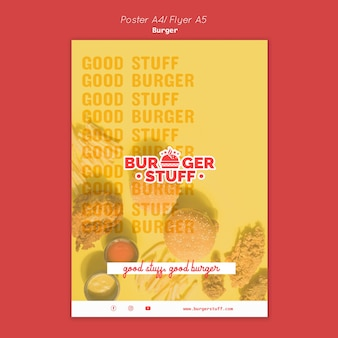 Шаблон флаера для бургерного ресторана
