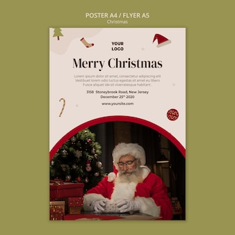Шаблон флаера для рождественской распродажи