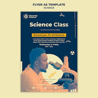 Шаблон флаера для научного класса