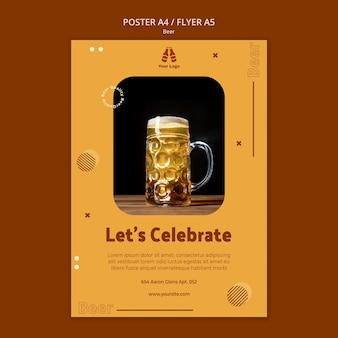 Flyer template for fresh beer