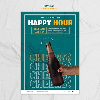 Flyer template for happy hour