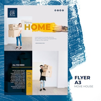 Flyer template for home relocation services