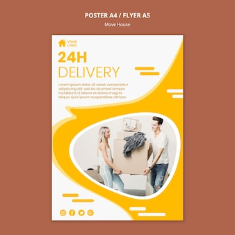 Flyer template for house moving company