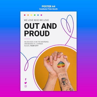 Flyer template for lgbt pride