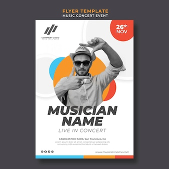 Flyer template for live concert