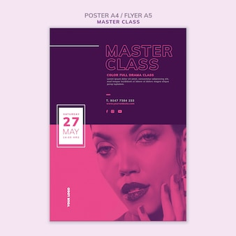 Flyer template for masterclass