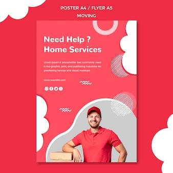 Flyer template for moving company