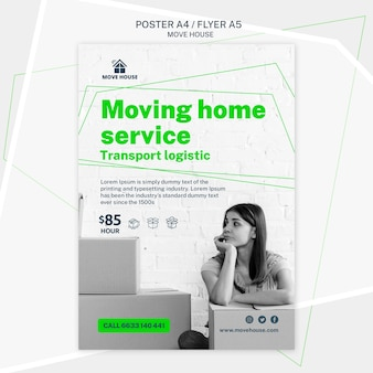 Flyer template for moving service