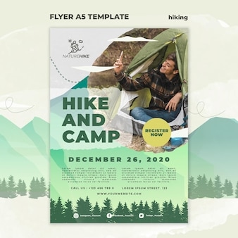 Flyer template for nature hiking