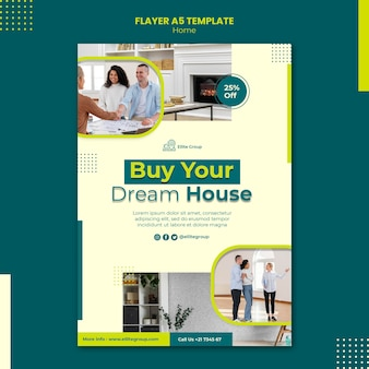 Flyer template for new family home