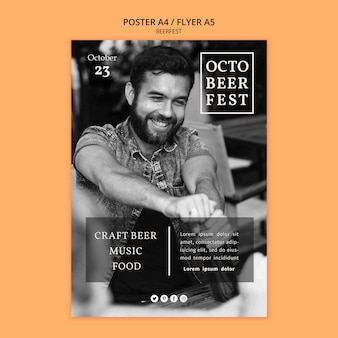 Flyer template for octobeerfest