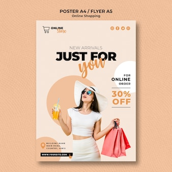 Flyer template for online fashion sale