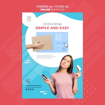 Flyer template for online shopping