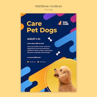 Flyer template for pet shop business