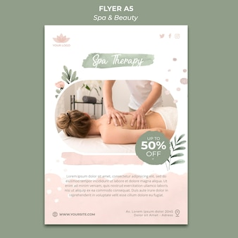 Flyer template for spa and relaxation