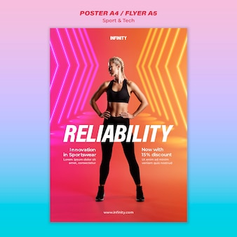 Flyer template for sports and exercise