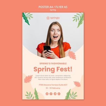 Flyer template for spring fest